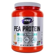 NOW Foods - Pea Protein 100% Pure Non-GMO Vegetable Protein Vanilla Toffee - 2 lbs. (733739021342)
