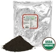 Frontier Natural Products - Certified Organic Black Cocoa Powder Processed with Alkali - 1 lb.