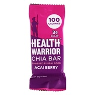 Guerrier de santé - Baie d'Acai de barre de Superfood Chia - 0.88 once.