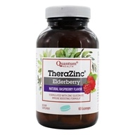 Quantum Health - Thera Zinc Elderberry Lozenges Natural Raspberry Flavor - 60 Lozenges