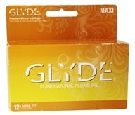 Image of Glyde - Premium Ethical and Vegan Latex Condoms Maxi Large Fit - 12 Pack