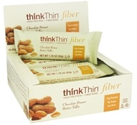 Image of Think Products - thinkThin High Protein Fiber Bar Chocolate Peanut Butter Toffee - 1.76 oz.