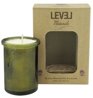 Level Naturals - Soy Candle Black Mission Fig & Lychee - 6 oz., from category: Aromatherapy