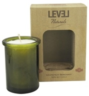 Level Naturals - Soy Candle Grapefruit Bergamot - 6 oz., from category: Aromatherapy