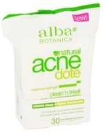 Alba Botanica - Natural ACNEdote Clean 'n Treat Towelettes - 30 Towelette(s) by Alba Botanica