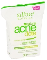 Alba Botanica - Natural ACNEdote Clean 'n Treat Towelettes - 30 Towelette(s) (724742007652)