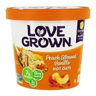 Love Grown Foods - Hot Oats Peach Almond Vanilla - 2.22 oz. - $2.19