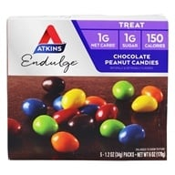 Atkins Nutritionals Inc. - Endulge Chocolate Peanut Candies - 5 Pack(s), from category: Health Foods