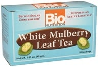 Bio Nutrition - White Mulberry Leaf Tea - 30 Tea Bags (854936003549)