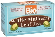 Bio Nutrition - White Mulberry Leaf Tea - 30 Tea Bags by Bio Nutrition