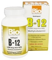 Bio Nutrition - B-12 Methylcobalamin Cherry Flavor 6000 mcg. - 50 Tablet(s) - $13.48