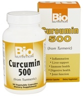 Bio Nutrition - Curcumin From Turmeric 500 mg. - 50 Vegetarian Capsules (854936003471)