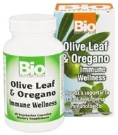 Bio Nutrition - Olive Leaf & Oregano Immune System Support - 60 Vegetarian Capsules by Bio Nutrition