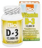 Bio Nutrition - Vitamin D-3 12000 IU - 50 Vegetarian Capsules by Bio Nutrition