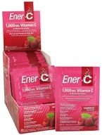 Ener-C - Vitamin C Effervescent Powdered Drink Mix Raspberry 1000 mg. - 30 Packet(s) by Ener-C