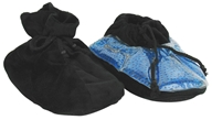 Soothera - Spa Slippers with Thermal Gel Beads Black - $22.86