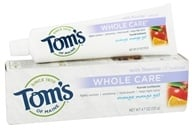 Tom's of Maine - Natural Toothpaste Whole Care With Fluoride Orange Mango Gel - 4.7 oz. (077326830765)