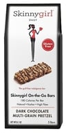 Skinnygirl - On The Go Dark Chocolate Bars Multi-Grain Pretzel - 5 Bars