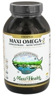 Maxi-Health Research Kosher Vitamins - Triple Maxi Omega-3 Concentrate With Vitamin D3 - 180 Softgels by Maxi-Health Research Kosher Vitamins