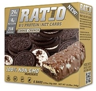 Ratio - 6:1 Protein Bars Cookie Crunch - 2.04 oz. by Ratio