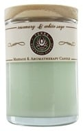 Terra Essential Scents - Massage & Aromatherapy Soy Candle Rosemary & White Sage - 2.5 oz.