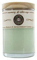 Terra Essential Scents - Massage & Aromatherapy Soy Candle Rosemary & White Sage - 2.5 oz. by Terra Essential Scents