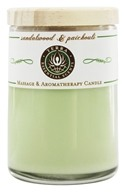 Terra Essential Scents - Massage & Aromatherapy Soy Candle Sandalwood & Patchouli - 2.5 oz. (794504476934)