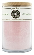 Terra Essential Scents - Massage & Aromatherapy Soy Candle Pink Lotus - 12 oz., from category: Aromatherapy