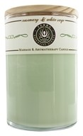 Terra Essential Scents - Massage & Aromatherapy Soy Candle Rosemary & White Sage - 12 oz. by Terra Essential Scents