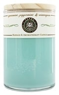 Terra Essential Scents - Massage & Aromatherapy Soy Candle Spearmint, Peppermint & Wintergreen - 12 oz.