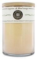 Terra Essential Scents - Massage & Aromatherapy Soy Candle Tangerine & Blood Orange - 12 oz. by Terra Essential Scents