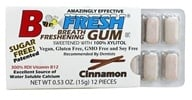 B Fresh - Breath Freshening Sugar Free Gum Cinnamon - 12 Piece(s) (853401001028)