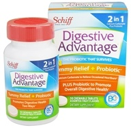 Schiff - Digestive Advantage Daily Probiotic Plus Tummy Relief - 50 Chewable Tablets