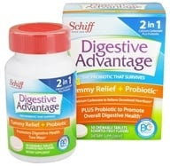 Schiff - Digestive Advantage Daily Probiotic Plus Tummy Relief - 50 Chewable Tablets by Schiff