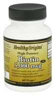 Image of Healthy Origins - High Potency Biotin 5000 mcg. - 60 Vegetarian Capsules