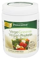 Proventive - VegeGreens Vegan Protein All Natural Vanilla Flavor - 12.4 oz. by Proventive