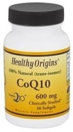 Healthy Origins - CoQ10 Kaneka Q10 Gels 600 mg. - 30 Softgels (603573350529)
