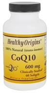 Healthy Origins - CoQ10 Kaneka Q10 Gels 600 mg. - 60 Softgels (603573350543)