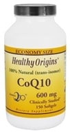Healthy Origins - CoQ10 Kaneka Q10 Gels 600 mg. - 150 Softgels - $119.98