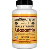 Image of Healthy Origins - Natural Astaxanthin Triple Strength 12 mg. - 60 Softgels