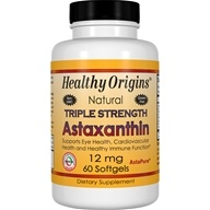 Healthy Origins - Natural Astaxanthin Triple Strength 12 mg. - 60 Softgels - $27.74