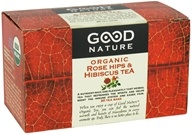 Image of Good Nature Tea - Organic Tea Caffeine Free Rose Hips & Hibiscus - 20 Tea Bags