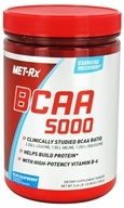 MET-Rx - BCAA 5000 Branched Chain Amino Acid Powder Blue Raspberry - 300 Grams