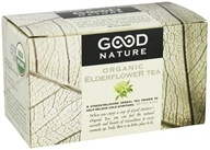 Good Nature Tea - Organic Tea Caffeine Free Elderflower - 20 Tea Bags by Good Nature Tea