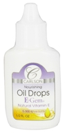 Carlson Labs - E-Gem Natural Vitamin E Nourishing Oil Drops 5000 IU - 0.5 oz. - $3.69