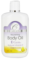 Carlson Labs - E-Gem Natural Vitamin E Nourishing Body Oil 40000 IU - 4 oz.