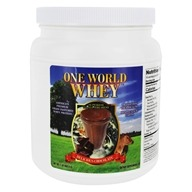 One World Whey - Premium Grass Pastured Whey Protein Delicious Chocolate - 1 lb.