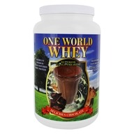 One World Whey - Premium Grass Pastured Whey Protein Delicious Chocolate - 5 lbs.