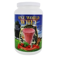 One World Whey - Protein Power Food Nature's Strawberry - 5 lbs., from category: Sports Nutrition