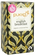 Image of Pukka Herbs - Organic Whole Leaf Tea Elegant English Breakfast - 20 Tea Bags